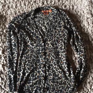 Tory Burch Leopard cardigan size L